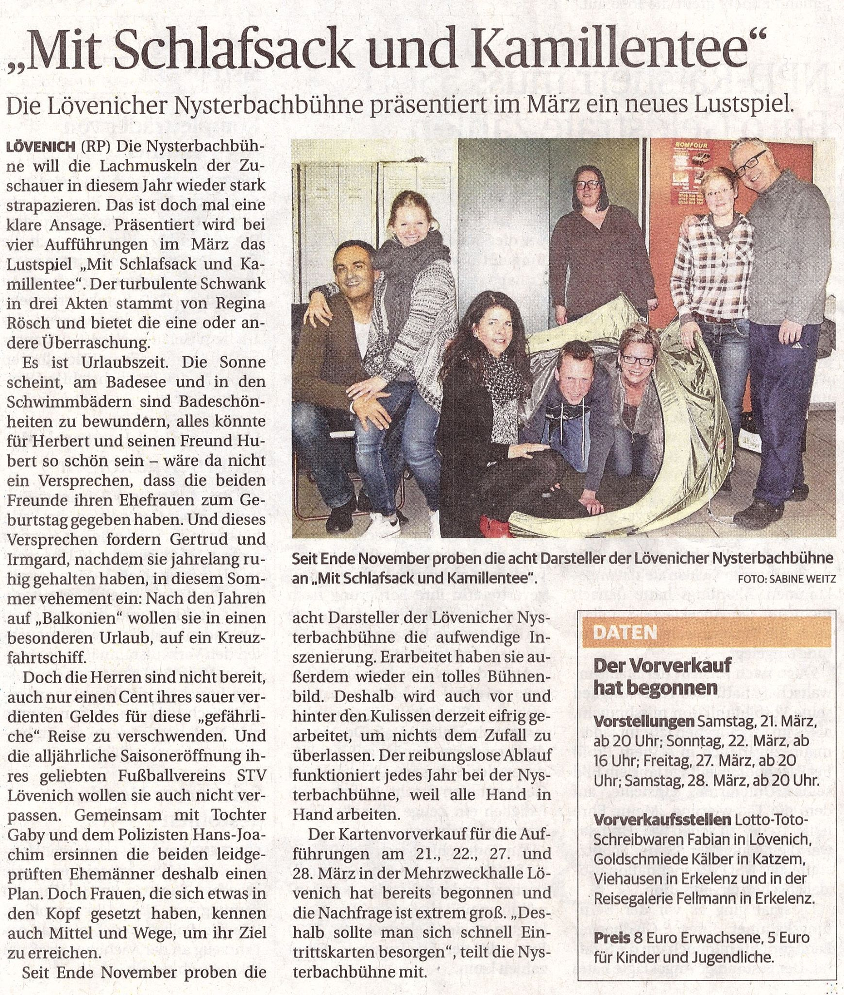 Rheinische Post vom 24.2.2015